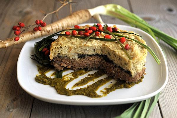 Torta di carne e Barba di becco, un piatto autunnale da abbinare al crespino!
