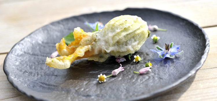 Fiori di zucchina alla galinsoga