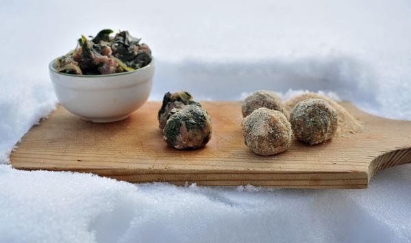 plantain meatballs, polpette piantaggine