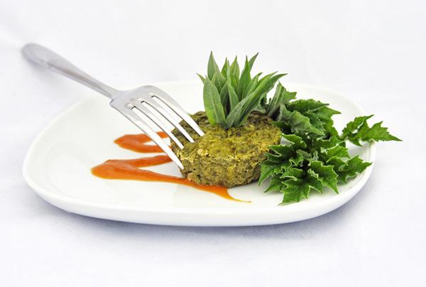 Crustless Common Hogweed Quiches recipe