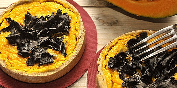 Pumpkin & Horn of Plenty Mushrooms Quiche